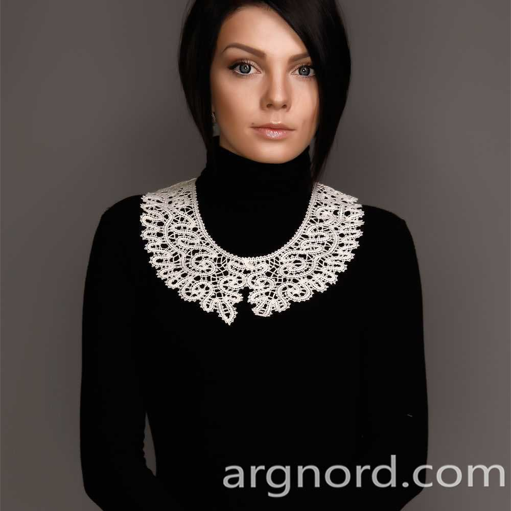 Russian White Lace collar