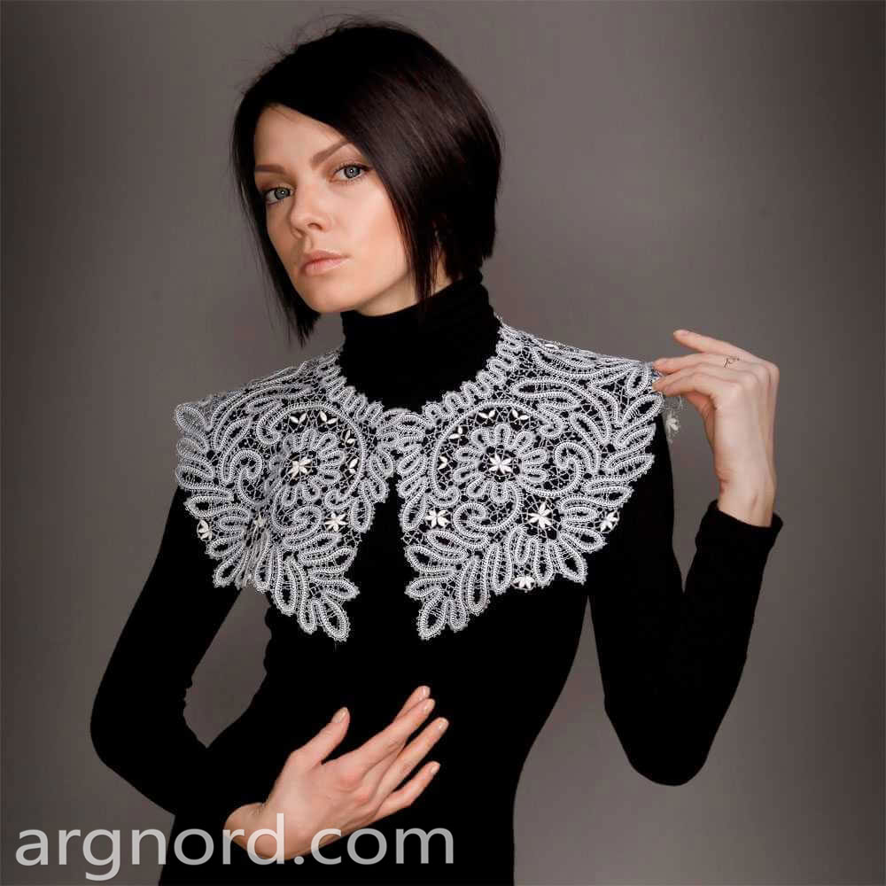 Handmade Russian Lace collar | VKR-660