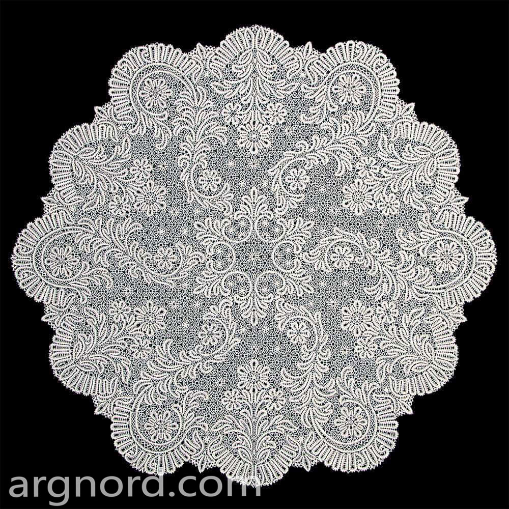 Linen Lace handmade tablecloth | VKR-685
