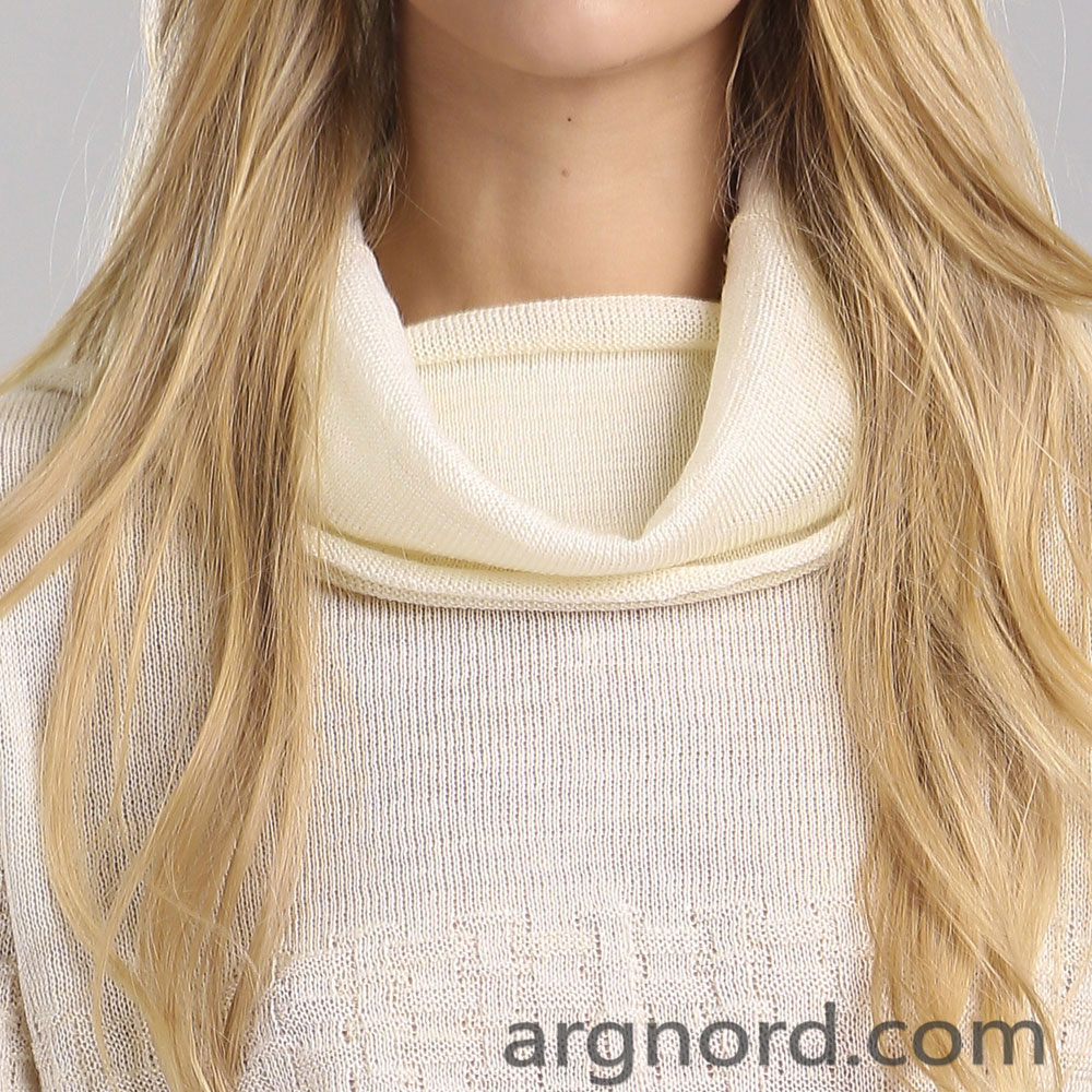 Linen and Wool mixture Sweater with collar | 14064