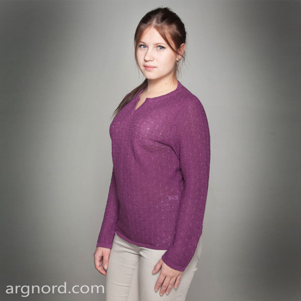 Pink Knit Sweater with long sleeves | SN-4-199