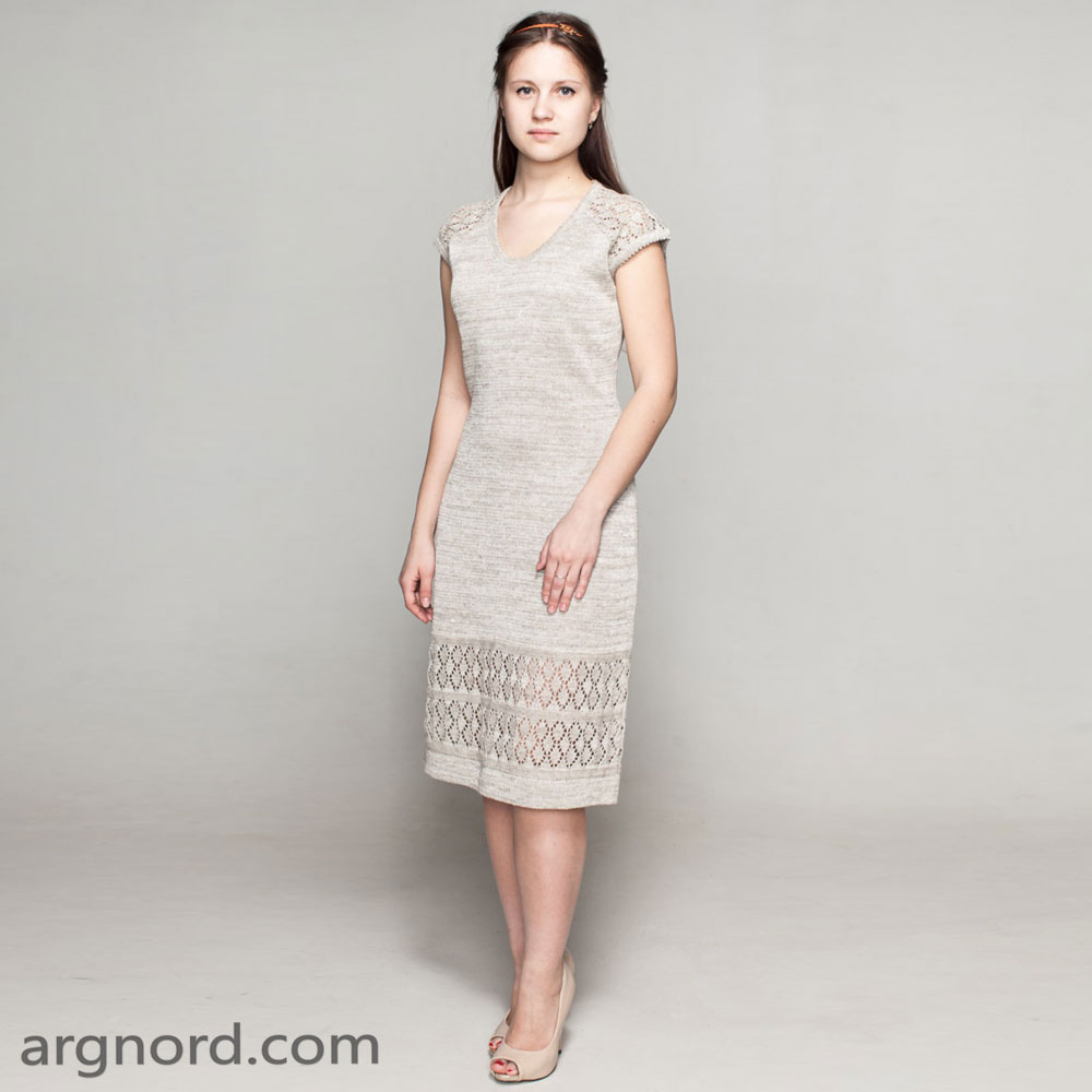 Medium-length dress with openwork knit | SN-14-14
