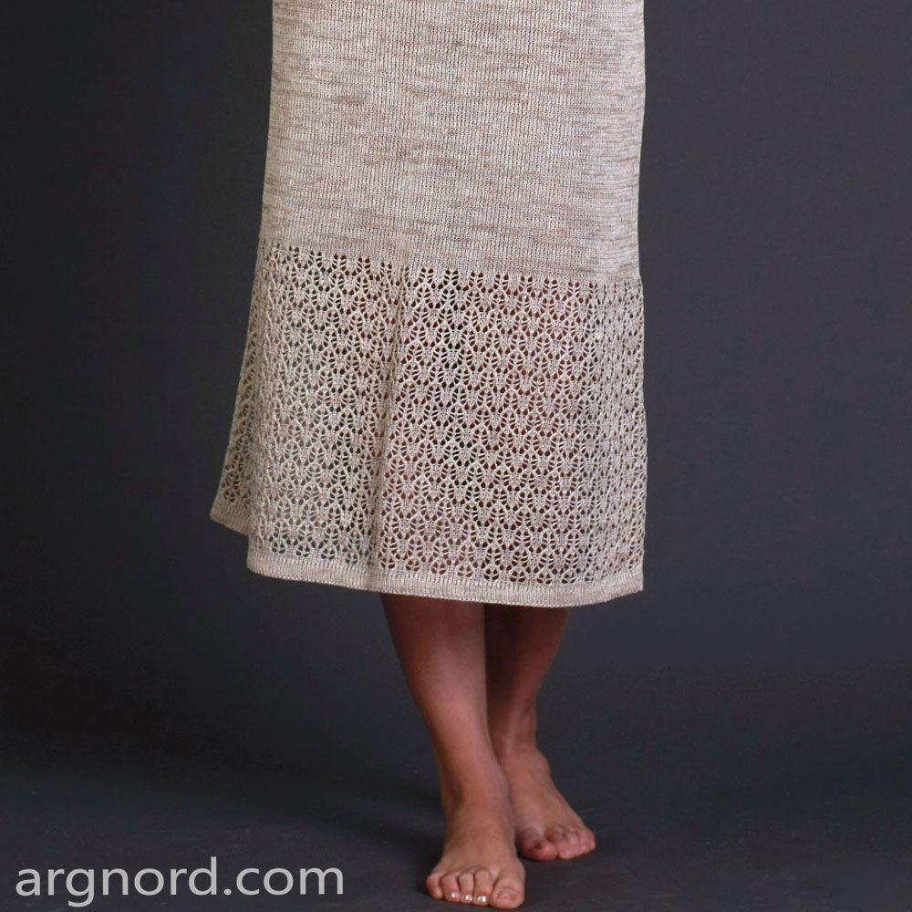 Long linen dress without sleeves | SN-12-38