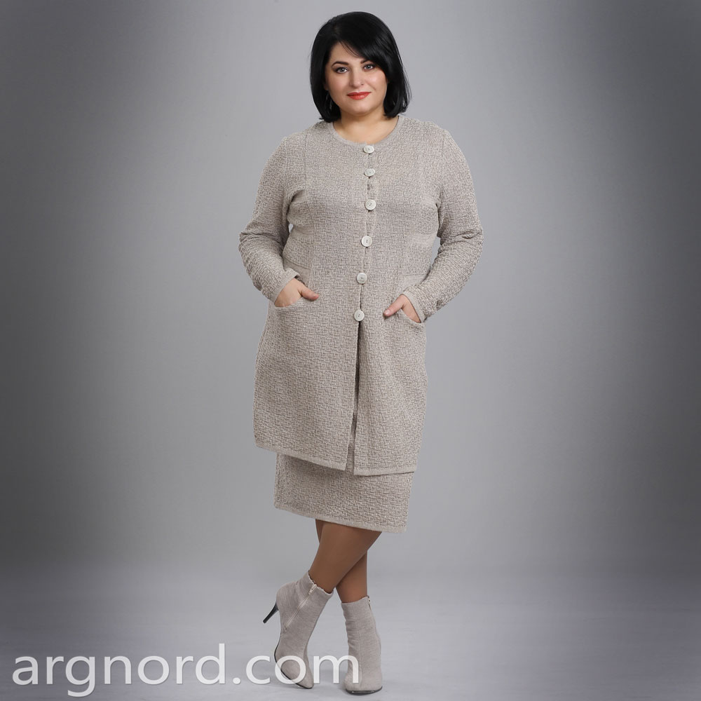 Linen Coat with buttons and  two pockets | 15084