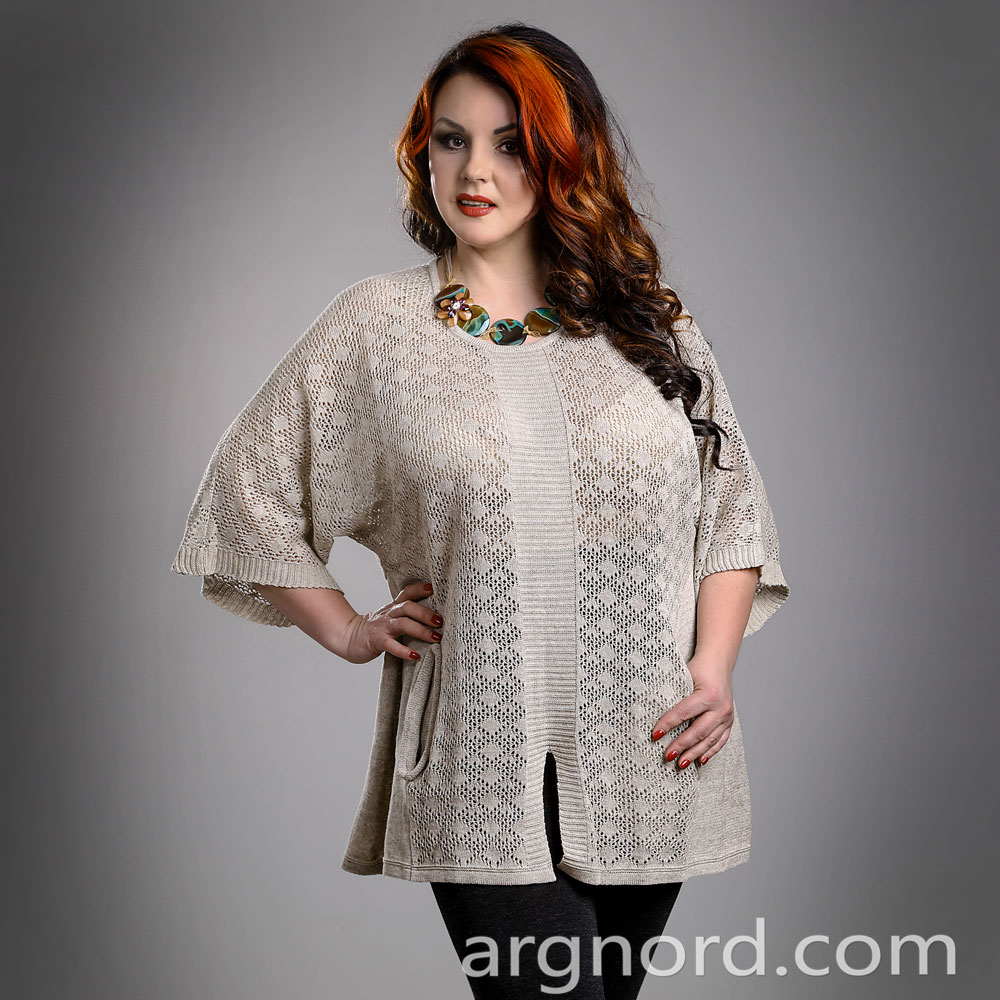 Loose Linen Tunic with two pockets | 13105