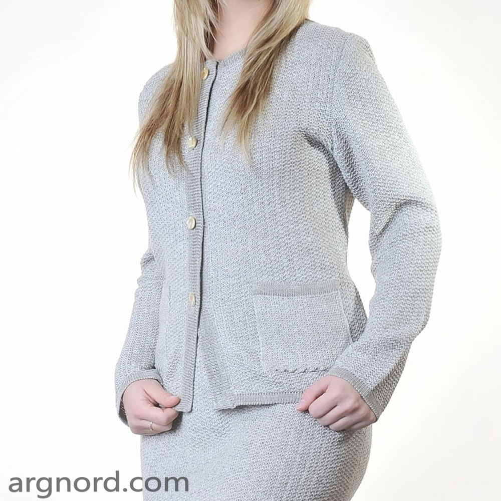 Linen cardigan with pockets and bottons | SN-1-72